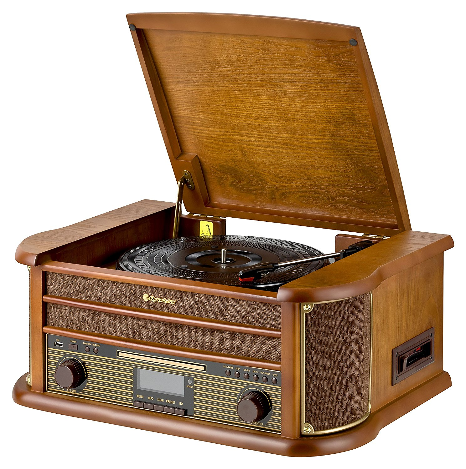 roadstar wooden retro style fm mw radio with cd mp3 player. Black Bedroom Furniture Sets. Home Design Ideas